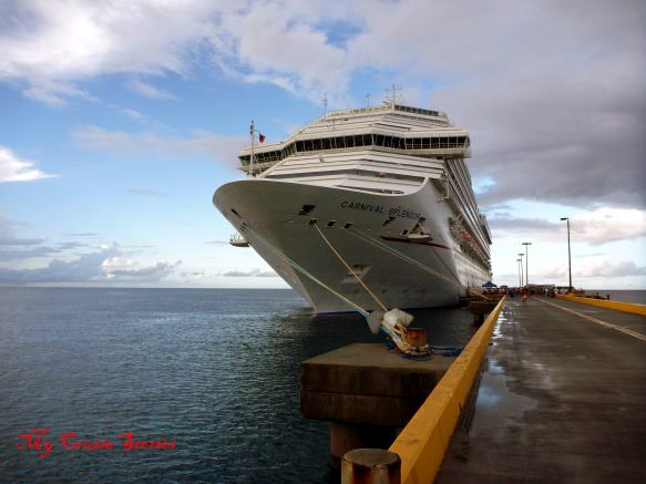 cruise ship docked in Saint Croix