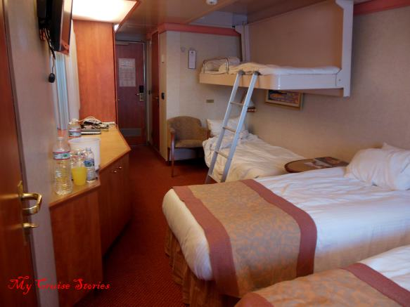 inside cruise ship cabin