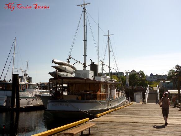 at the dock on San Juan Island