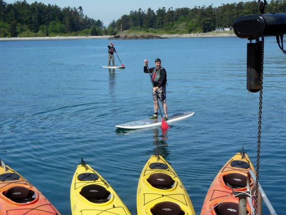 paddleboards in the San Juan Islands