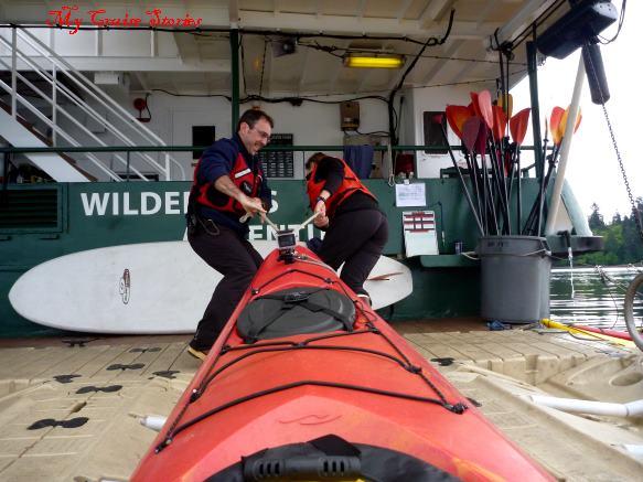 returning to the kayak launcher