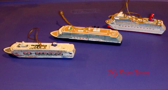 cruise ship Christmas tree ornaments