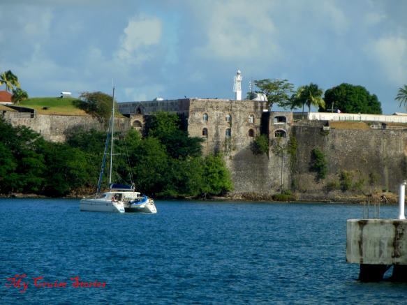 old fort in Martinique