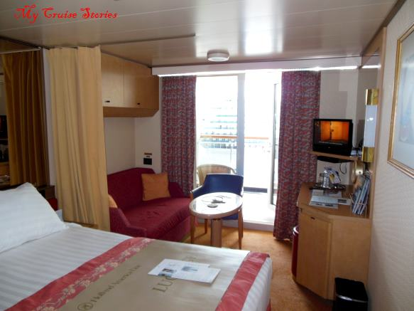 inside a cruise ship cabin