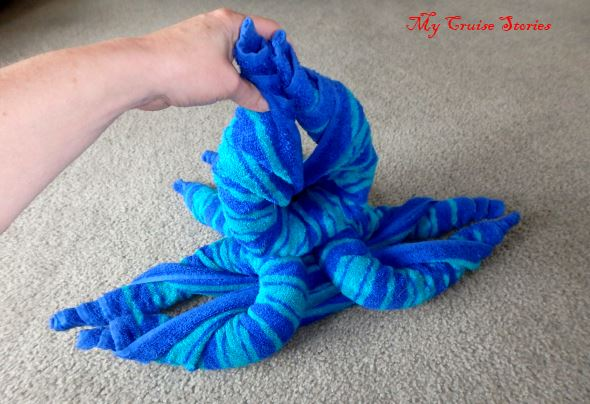 how to make a towel octopus