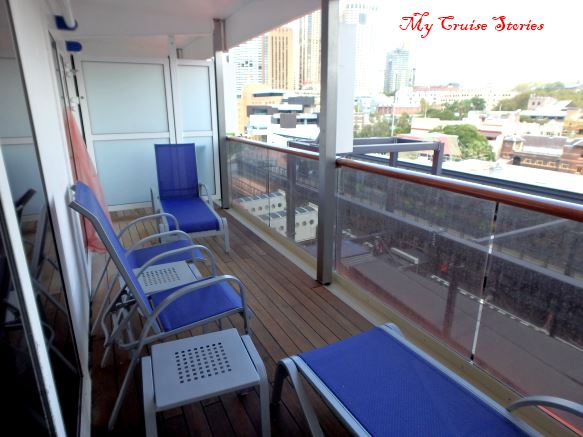 large balcony on a cruise ship