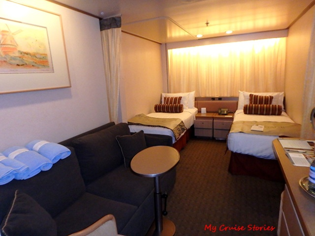 Cruise ship cabins on holland america veendam cruise stories for Which cruise line has single cabins