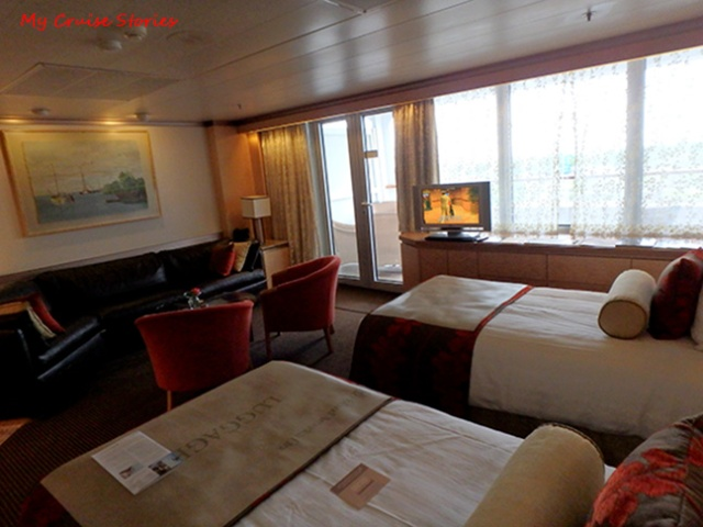 suite on a cruise ship