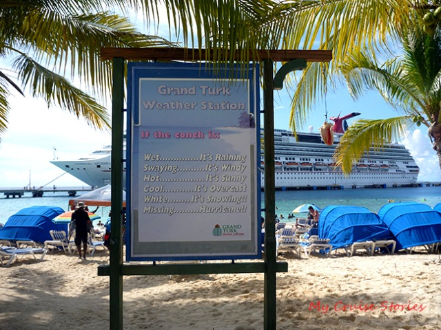 how to determine the weather at Grand Turk beach