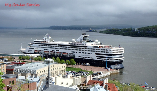 cruise ship docked in Quebec