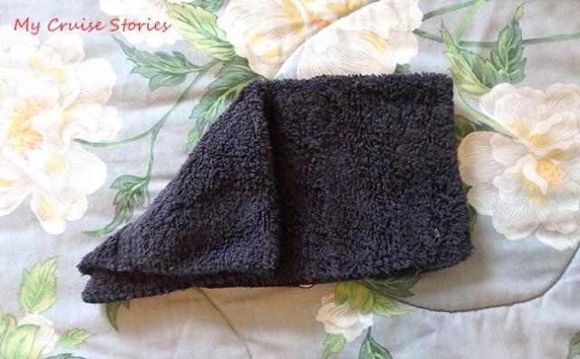 making a washcloth animal head
