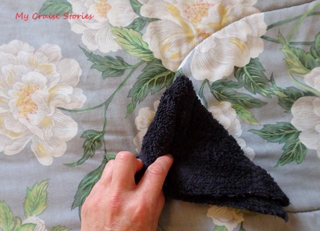 roll the washcloth animal head