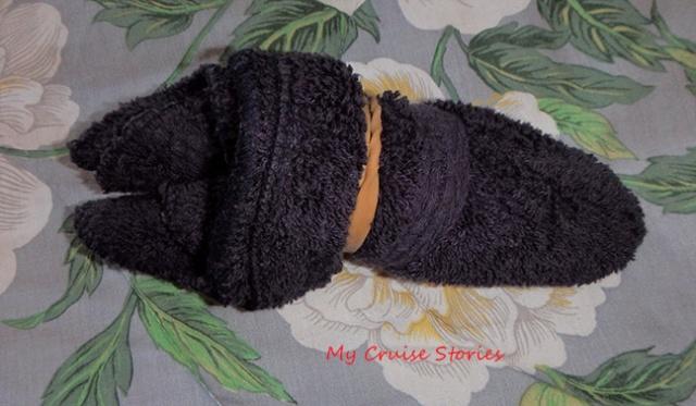 making a washcloth bat head