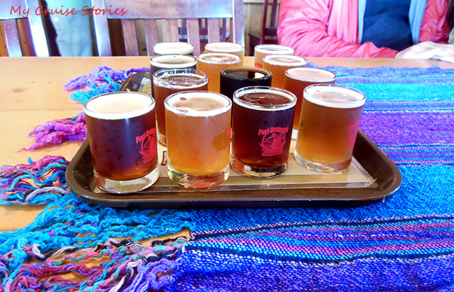 a variety of beer