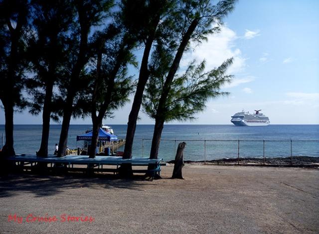 cruise ship at anchor
