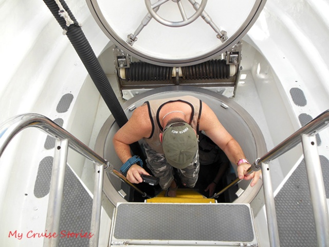 entering a submarine
