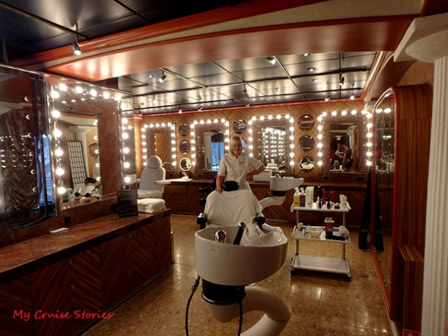 hair salon on a cruise ship