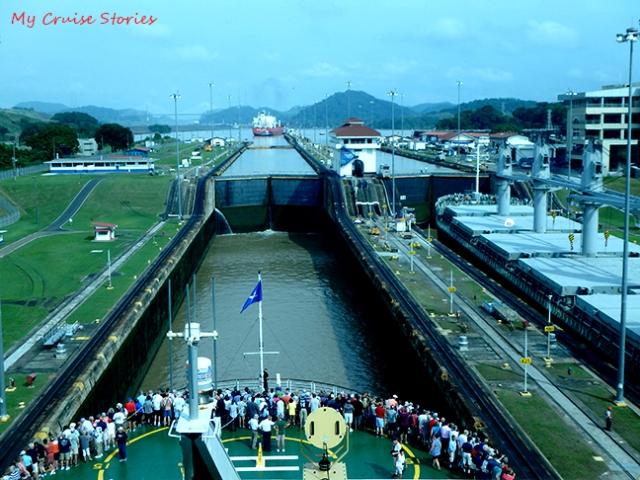 cruise ship in Panama Canal
