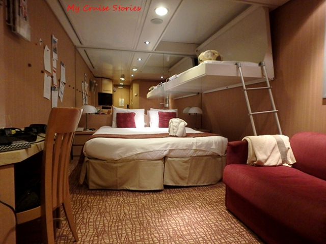 drop down bunks add sleeping space