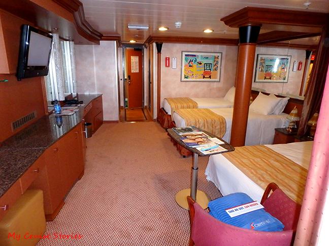biggest cruise ship cabin
