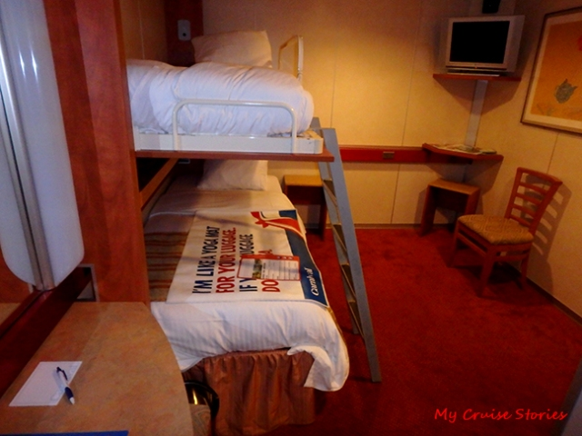 economical cruise ship cabin