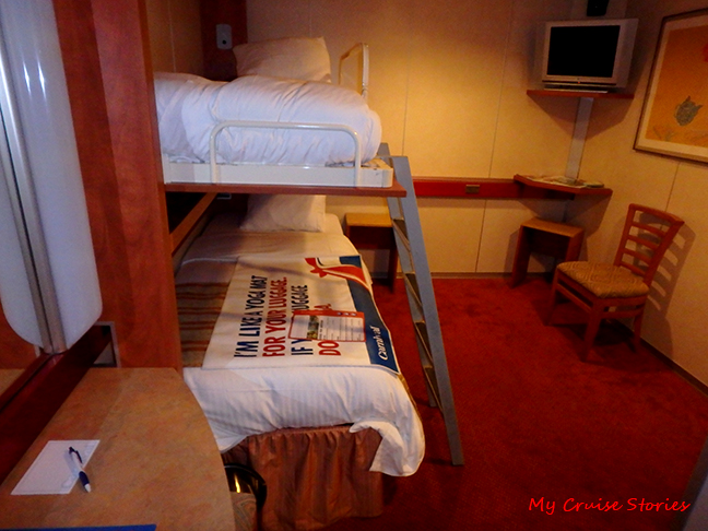 economical cruise ship cabin