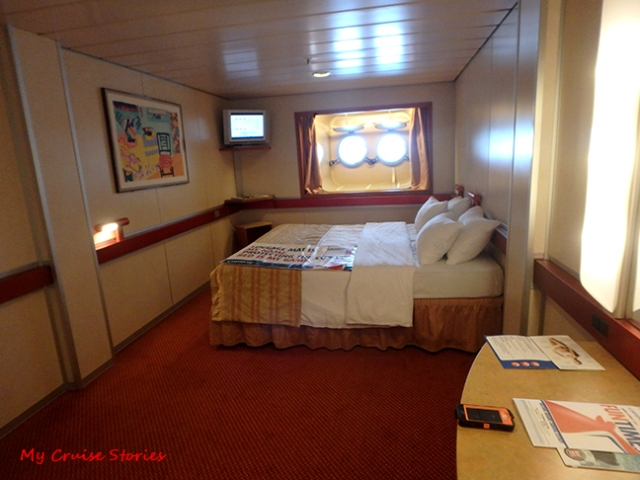 bigger than average cruise ship cabin