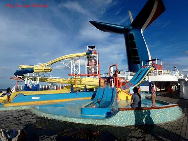cruise ship waterslides