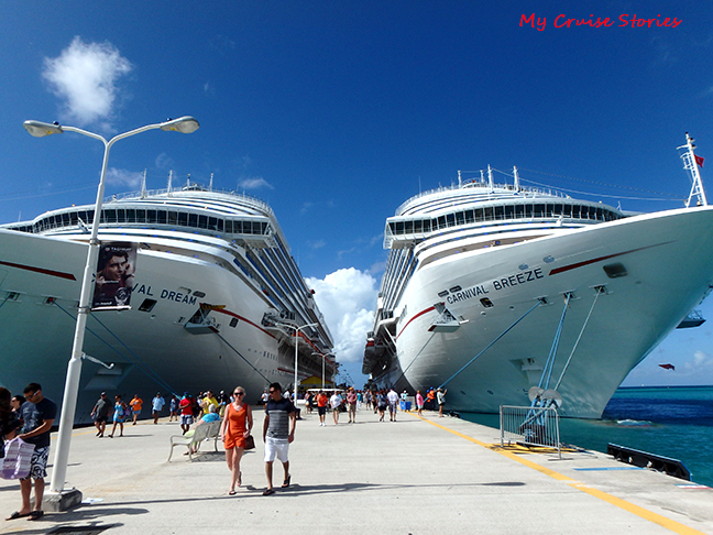 cruise ships at the dock