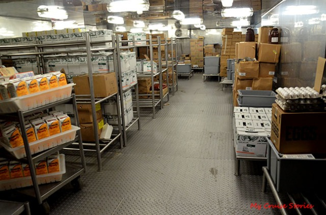 cruise ship food storage area