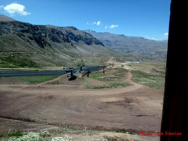 Farellones in the Andes Mountains