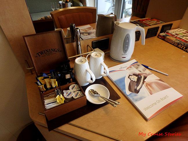 full tea service in every cabin