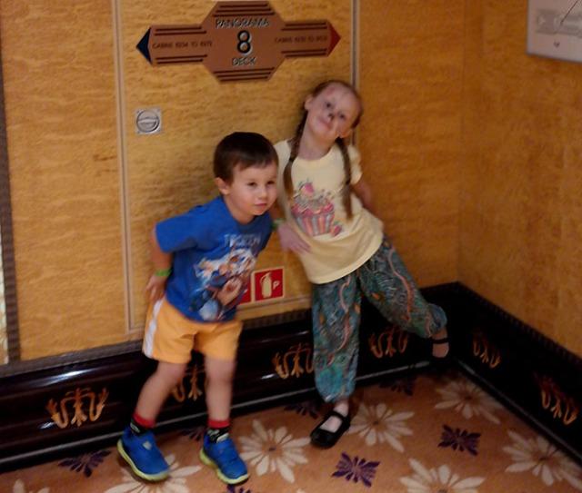 kids in a cruise ship digital scavenger hunt