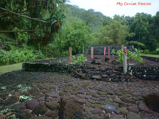 ancient temple ruins in Tahiti