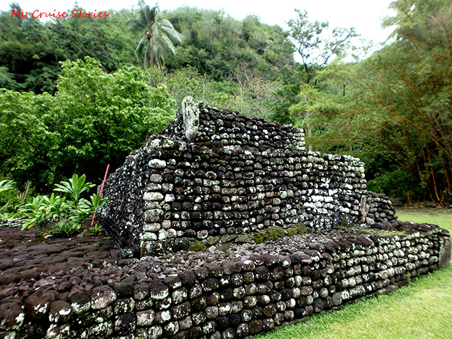 ancient Tahitian temple