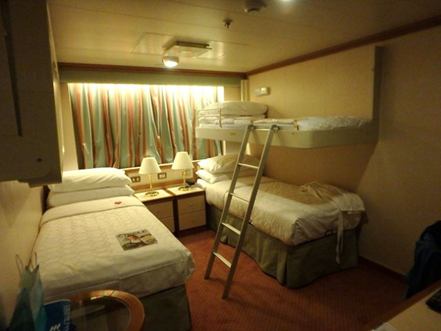 bunks in cruise ship cabins make more passengers an option