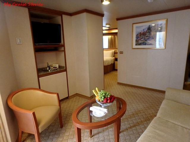 premium cruise ship suite
