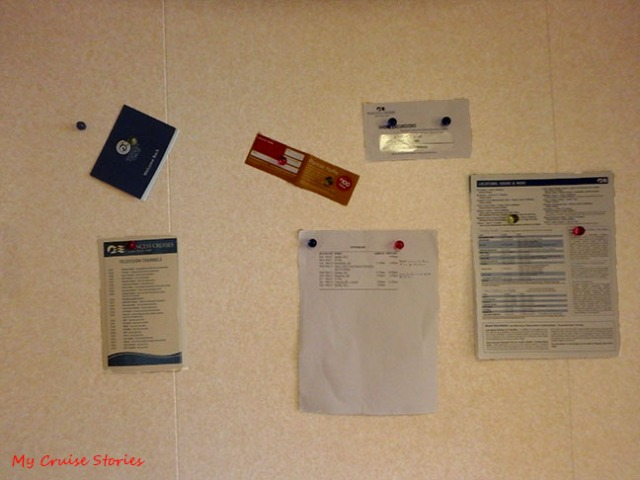 magnets come in handy on cruise ships