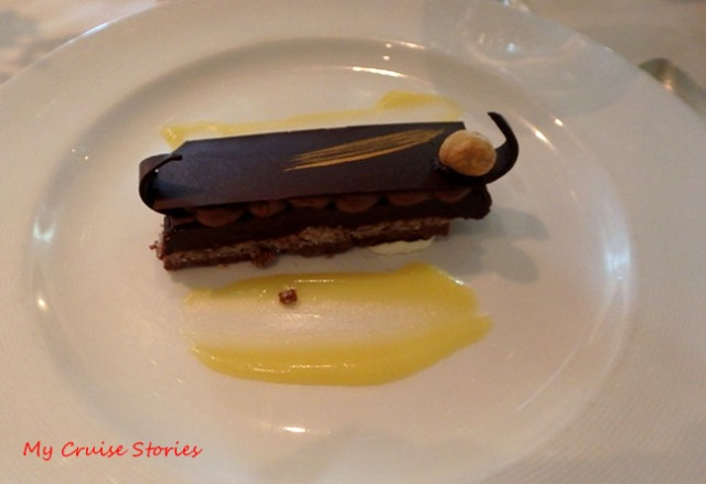fancy chocolate dessert