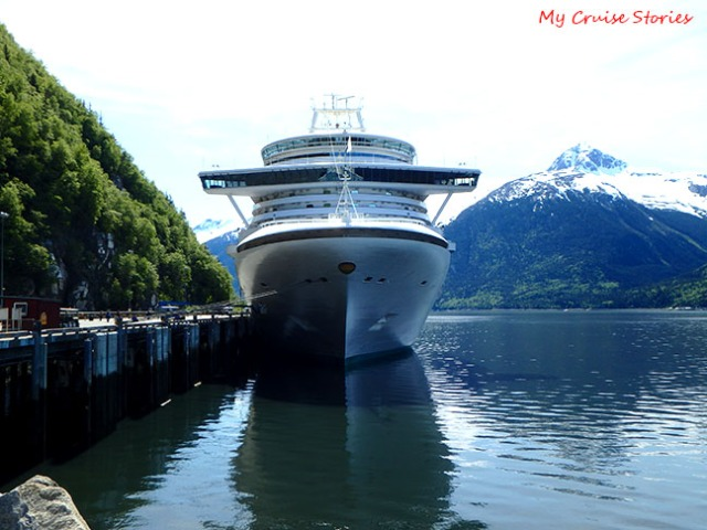 Ruby Princess docked in Skagway