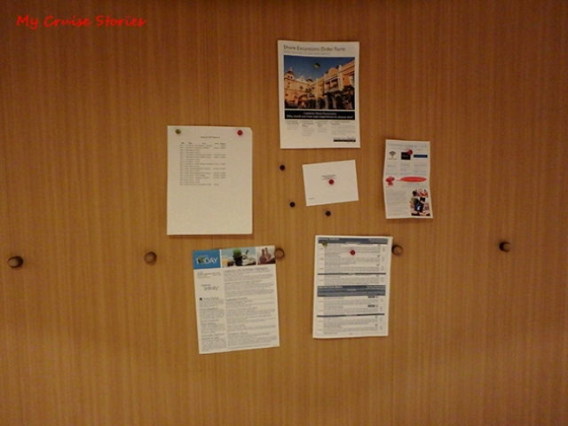 magnetic walls in cruise ship cabin