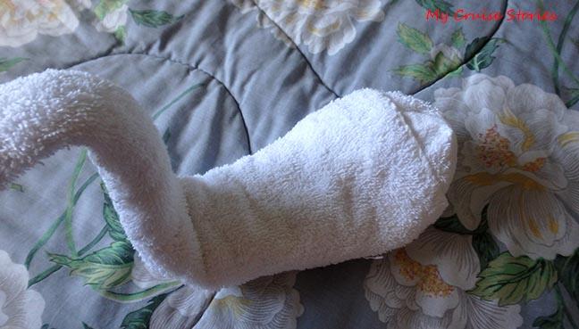 towel duck folding step 4