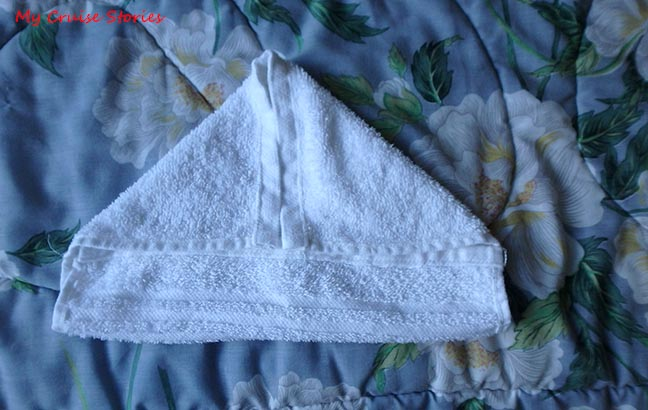 folding a washcloth into a duckling
