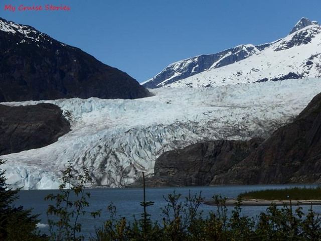 trail view of Mendenhall Glacier