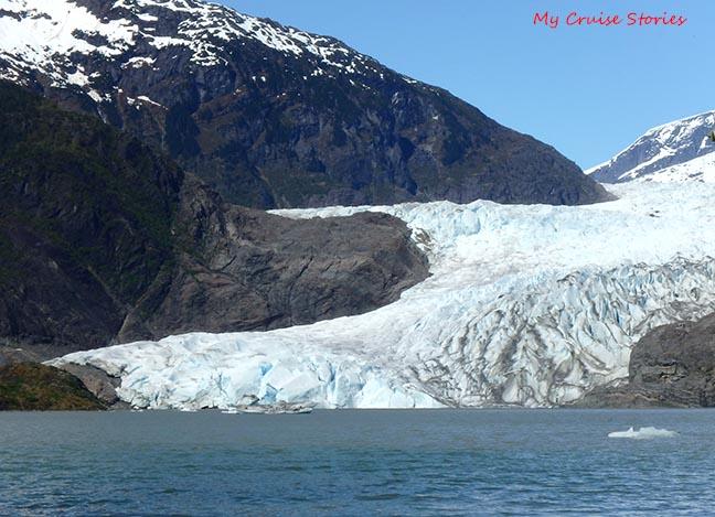 bergy bit at glacier