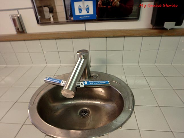 sink faucet has wash and dry settings