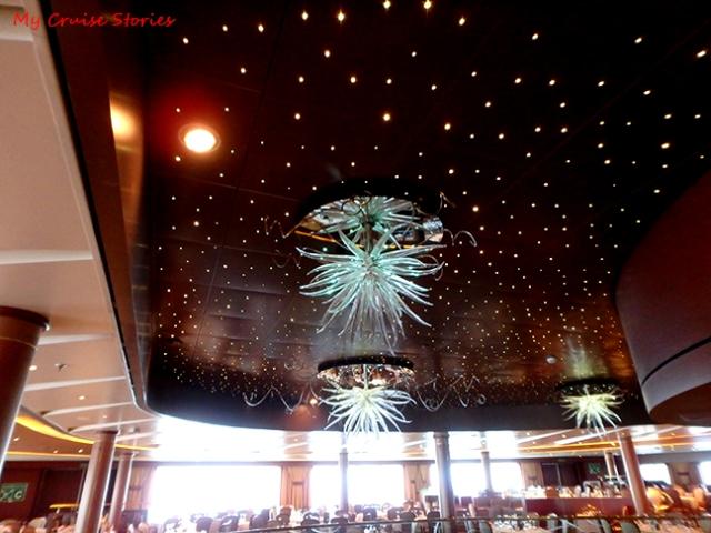 fancy cruise ship lights