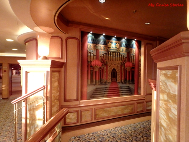 Arabian or Egyptian themed lounge on Ruby Princess