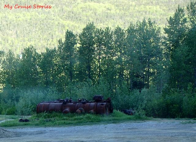 derailed steam engine