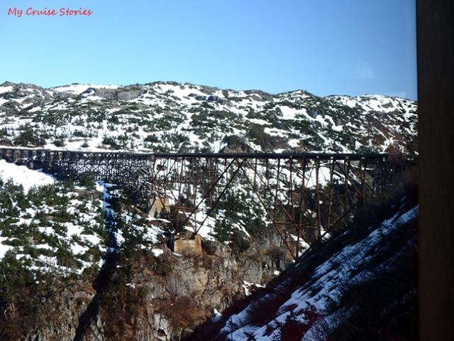 old train trestle near Skagway